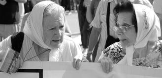 Μητέρες του Plaza de Mayo Στοκ Φωτογραφίες