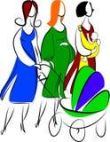 μητέρες τρία Στοκ Φωτογραφία