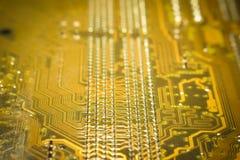 μητρική κάρτα υπολογιστών κυκλωμάτων Στοκ φωτογραφία με δικαίωμα ελεύθερης χρήσης