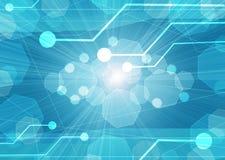 Μητρική κάρτα υπολογιστών σε μια μπλε ανασκόπηση διανυσματική απεικόνιση