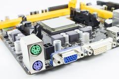 Μητρική κάρτα υπολογιστών PC Στοκ εικόνα με δικαίωμα ελεύθερης χρήσης
