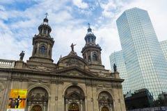 Μητροπολιτικός καθεδρικός ναός στο Σαντιάγο de Χιλή Στοκ εικόνα με δικαίωμα ελεύθερης χρήσης