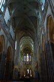 Μητροπολιτικός καθεδρικός ναός του εσωτερικού Αγίου Vitus Στοκ εικόνα με δικαίωμα ελεύθερης χρήσης