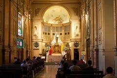 Μητροπολιτικός καθεδρικός ναός του Σαντιάγο, Σαντιάγο de Χιλή, Χιλή Στοκ φωτογραφία με δικαίωμα ελεύθερης χρήσης