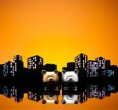 Μητροπόλεων αστική ένωση τραπεζών πόλεων ομοφυλοφιλική piggy Στοκ εικόνα με δικαίωμα ελεύθερης χρήσης