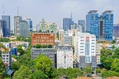 Μητρόπολη πόλεων Χο Τσι Μινχ και στο κέντρο της πόλης Saigon, Βιετνάμ στοκ εικόνες
