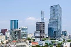 Μητρόπολη πόλεων Χο Τσι Μινχ και στο κέντρο της πόλης Saigon, Βιετνάμ στοκ εικόνα
