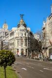 Μητρόπολη της Μαδρίτης που στηρίζεται σε μια όμορφη θερινή ημέρα στοκ φωτογραφία με δικαίωμα ελεύθερης χρήσης