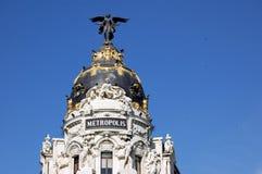 μητρόπολη της Μαδρίτης Στοκ φωτογραφία με δικαίωμα ελεύθερης χρήσης