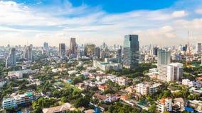 Μητρόπολη της Μπανγκόκ, εναέρια άποψη πέρα από τη μεγαλύτερη πόλη στην Ταϊλάνδη στοκ φωτογραφία