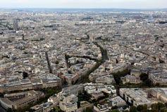 Μητρόπολη του Παρισιού στη Γαλλία από την κορυφή του πύργου του Άιφελ στοκ φωτογραφία με δικαίωμα ελεύθερης χρήσης