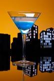 Μητρόπολη μπλε Martini Στοκ Φωτογραφία