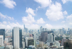 μητρόπολη πόλεων της Μπανγκόκ, εικονική παράσταση πόλης οριζόντων, άποψη του στο κέντρο της πόλης πνεύματος στοκ εικόνα με δικαίωμα ελεύθερης χρήσης