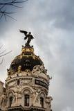 Μητρόπολη στη Μαδρίτη στοκ εικόνα με δικαίωμα ελεύθερης χρήσης