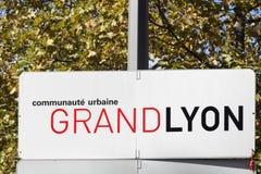 Μητρόπολη της Λυών αποκαλούμενη επιτροπή μεγάλη Λυών στα γαλλικά Στοκ εικόνες με δικαίωμα ελεύθερης χρήσης