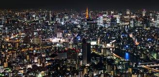 Μητρόπολη του Τόκιο, νύχτα στοκ εικόνες
