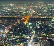 Μητρόπολη του Τόκιο, νύχτα στοκ εικόνα με δικαίωμα ελεύθερης χρήσης