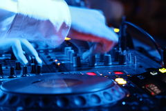 Μηχάνημα αναπαραγωγής CD του DJ Στοκ Εικόνες