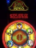 Μηχάνημα τυχερών παιχνιδιών με κέρματα Αρχόντων των δαχτυλιδιών Στοκ εικόνες με δικαίωμα ελεύθερης χρήσης