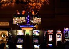 Μηχάνημα τυχερών παιχνιδιών με κέρματα Λας Βέγκας Στοκ Εικόνες