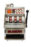 Μηχάνημα τυχερών παιχνιδιών με κέρματα με το τζακ ποτ τριών κουδουνιών Στοκ Εικόνα