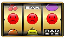 Μηχάνημα τυχερών παιχνιδιών με κέρματα, παιχνίδι, ηττημένος Στοκ Φωτογραφίες