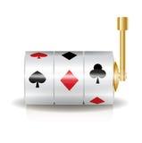 Μηχάνημα τυχερών παιχνιδιών με κέρματα που απομονώνεται στο λευκό Στοκ εικόνα με δικαίωμα ελεύθερης χρήσης