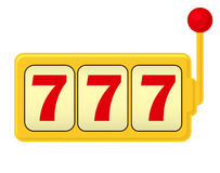 Μηχάνημα τυχερών παιχνιδιών με κέρματα Τζακ ποτ - τρία 7 Κλασικό παιχνίδι απεικόνιση αποθεμάτων