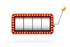 Μηχάνημα τυχερών παιχνιδιών με κέρματα τρισδιάστατο στο λευκό Στοκ εικόνα με δικαίωμα ελεύθερης χρήσης