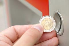Μηχάνημα τυχερών παιχνιδιών με κέρματα Στοκ Εικόνα