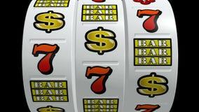 Μηχάνημα τυχερών παιχνιδιών με κέρματα Vegas απεικόνιση αποθεμάτων