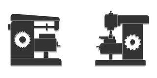 Μηχανές άλεσης τα εύκολα εικονίδια ανασκόπησης αντικαθιστούν το διαφανές διάνυσμα σκιών διανυσματική απεικόνιση