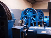 Μηχανές ανελκυστήρων στοκ εικόνα
