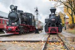 Μηχανές ατμού στο σταθμό AnykÅ ¡ 5$α  ia Στοκ Φωτογραφία