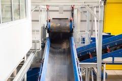 Μηχανήματα αλυσίδων ζωνών μεταφορέων για το λίπασμα Στοκ φωτογραφίες με δικαίωμα ελεύθερης χρήσης