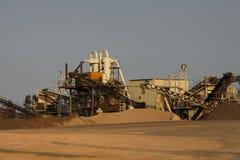Μηχανήματα βιομηχανίας άμμου στοκ εικόνες