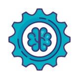 Μηχανήματα εργαλείων με τον εγκέφαλο ελεύθερη απεικόνιση δικαιώματος
