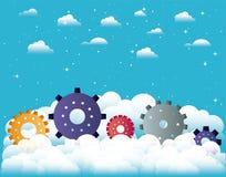Μηχανήματα εργαλείων στον ουρανό απεικόνιση αποθεμάτων