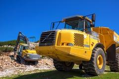 Μηχανήματα κατασκευής για την πέτρα Στοκ Εικόνα