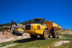 Μηχανήματα κατασκευής για την πέτρα Στοκ Φωτογραφίες