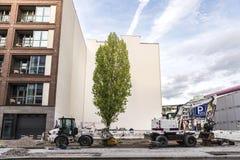 Μηχανήματα κατασκευής στο Βερολίνο, Γερμανία Στοκ εικόνα με δικαίωμα ελεύθερης χρήσης