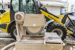 Μηχανήματα κατασκευής στο Ντίσελντορφ, Γερμανία Στοκ φωτογραφίες με δικαίωμα ελεύθερης χρήσης