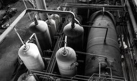 Μηχανήματα μέσα στις εγκαταστάσεις παραγωγής ενέργειας Στοκ φωτογραφία με δικαίωμα ελεύθερης χρήσης