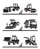 Μηχανήματα οδοποιίας ελεύθερη απεικόνιση δικαιώματος