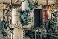 Μηχανήματα που εγκαταλείπονται βιομηχανικά Στοκ εικόνα με δικαίωμα ελεύθερης χρήσης