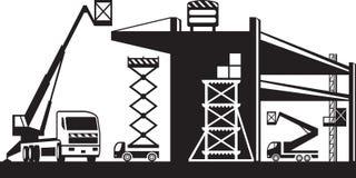 Μηχανήματα υλικών σκαλωσιάς και ανύψωσης απεικόνιση αποθεμάτων