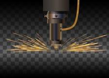 Μηχανή λέιζερ για το μέταλλο επίσης corel σύρετε το διάνυσμα απεικόνισης ελεύθερη απεικόνιση δικαιώματος