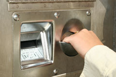 μηχανή αλλαγής λογαριασμών Στοκ Φωτογραφία