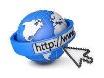 Μηχανή αναζήτησης Διαδικτύου Στοκ Φωτογραφίες