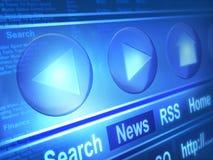 Μηχανή αναζήτησης Διαδικτύου απεικόνιση αποθεμάτων